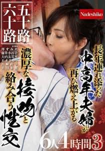 五十路六十路 長年連れ添った中高年夫婦が再び燃え上がる濃厚な接吻と絡み合う性交6人4時間 3