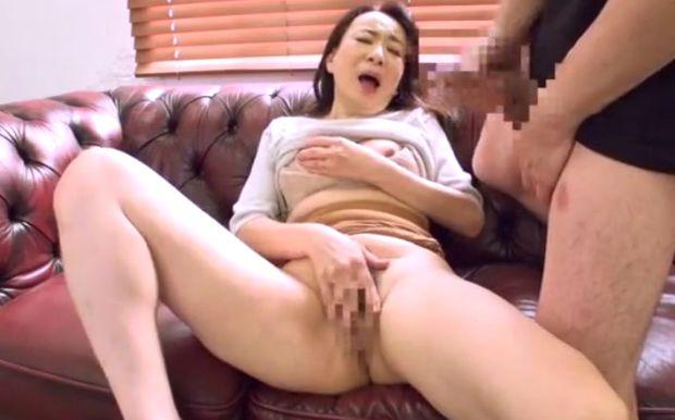 五十路熟女のセンズリ鑑賞